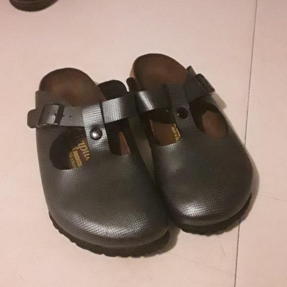 d02fd20f36c83 Birkenstock Shoes | Papillio Slate Gray Clogs | Poshmark
